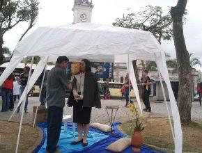 Oração também foi oferecida no centro da praça