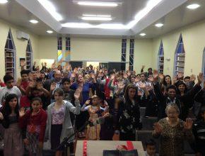 Cerca de 70 pessoas demostraram interesse pela palavra de Deus.