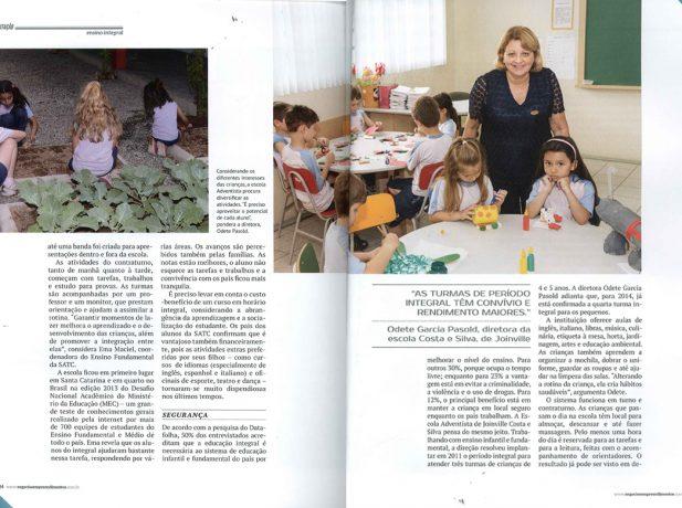 Educação Adventista foi destaque em revista sobre negócios. (Reprodução: Revista Negócios & Empreendimentos)