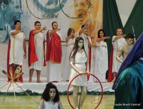 A abertura contou com uma apresentação dos jogos olímpicos gregos