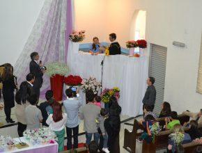 Cerimônia teve o batismo de 17 pessoas no dia 27 de setembro na IASD Central de Chapecó. (Fotos: Rúbia Rodrigues)