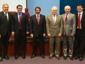 Da esquerda para direita - Pr. Steverson Lemes, Pr. Oliveiros Ferreira, Pr. Dimas Artiaga e Pr. Hugo Quiroga