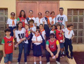Clube Águias Kids em dia de evangelismo em Campo Grande - MS.