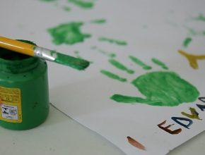 Pintura feita por criança acolhida pela ADRA