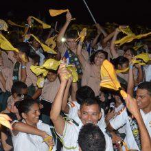 """Campori reúne 4 mil desbravadores em torno de um mesmo desejo """"a caminho do céu"""""""