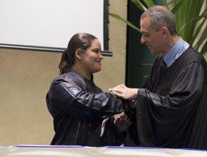 Batismo de Angela Baptista no colégio de Diadema.