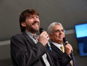 Produtor Henry Stober (esquerda) e Pr. Willians Costa Jr. (direita). Filme é resultado de 5 anos de trabalho (foto: Willian Azevedo)