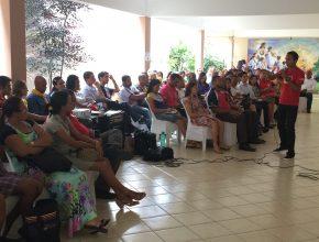 pastor Leandro Lins fala aos coordenadores das áreas Jovens Adventistas, Desbravadores e Aventureiros