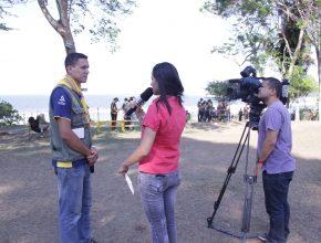 O evento chamou a atenção da imprensa local.