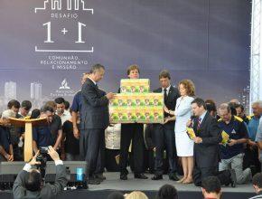 Na ocasião aconteceu o lançamento do projeto missionário do livro Viva com Esperança