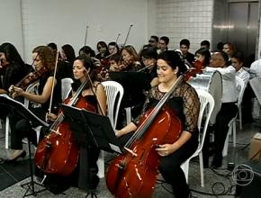 Concerto apresentou músicas natalinas em Petrolina, Sertão de Pernambuco (Imagem: TV Globo/Divulgação)