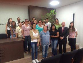Os representantes das seis cantinas escolares participaram do treinamento.