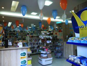 A loja já estava atendendo os clientes há um mês antes da inauguração.