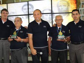 Pastor Luiznei, Pedro, pr. Alexandre, Benones e pr. João. (Esq. para dir.)