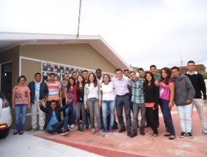 Os jovens vieram de vários locais do país para participar do Sonhando Alto em Curitiba