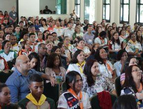 320 jovens lotaram a capela do CATRE Satulina durante a Convenção Jovem. (Fotos: Marciane Cruz)
