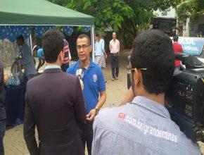 A reportagem da TV Grande Minas afiliada da Rede Globo entrevistou o pastor Deusdeth Filho