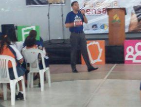 """Pastor Rafael Santos,  motiva os jovens e lançando o Campori """"Jesus minha Fortaleza"""""""