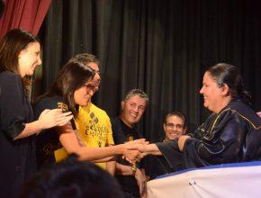 Momentos de regozijo e gratidão foram revelados na hora dos batismos.