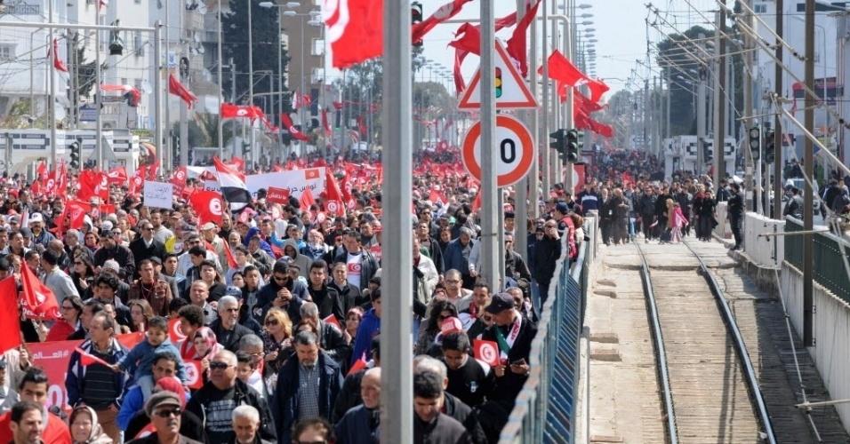 Passeata dos tunisianos foi uma resposta ao terrorismo no país - Agência EFE