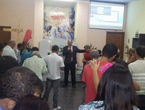 Momentos de oração foram marcantes durante a Semana.