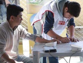 Os alunos do 9º ano trabalharam na linha de frente em todas as etapas.