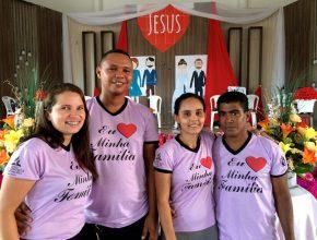 Casal missionário Wellison e Daniele Nunes com seu casal convidado, Janete e Raimundo Silva