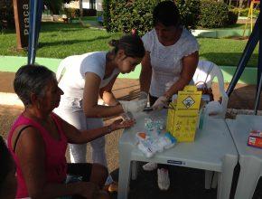 Cerca de 200 pessoas foram atendidas no final do mês de março na feira de saúde realizada em Curvelândia (280 km de Cuiabá).