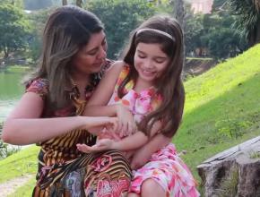 Ana Luíza está com oito anos e não ficou com nenhuma sequela