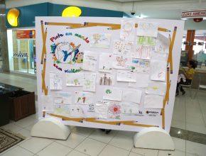 Campanha levou crianças  a retratar um mundo ideal em seus desenhos