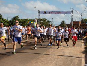 Mexa-se pela vida, foi o tema da corrida deste domingo no bairro do Maiobão.