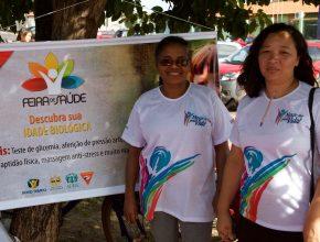 A feira de saúde no bairro do Maiobão, ofereceu a comunidade vários serviços de saúde.