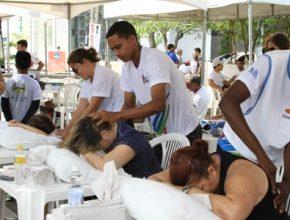 A massagem também agradou o público