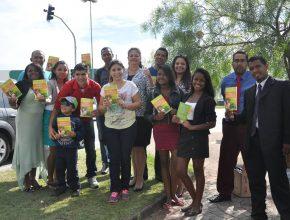 Parte do grupo que realizou o trabalho nos semáforos em Votorantim