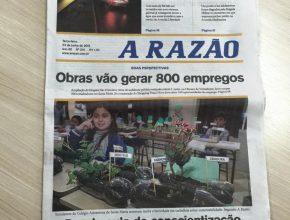 O projeto também foi capa do jornal A Razão.