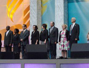 Nomeados foram apresentados nesse domingo na Assembleia Mundial da Igreja - Crédito: Adventist Review
