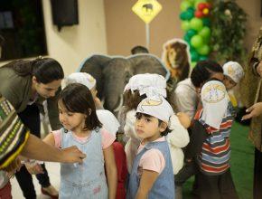 Crianças durante recreação na Escola Cristã de Férias. (IASD Guanandi, Campo Grande-MS).