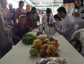 Stand da nutrição foi um dos mais visitados pela população