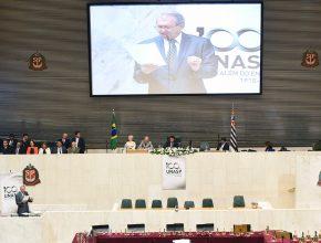 Euler Bahia, reitor do Unasp, discursa para a Assembleia Legislativa do Estado de São Paulo