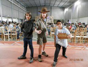 Alunos se caracterizaram com roupas de personagens de filmes. Foto: Cláudia Oliveira