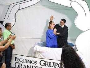Batismo como fruto do trabalho feito pelos pequenos grupos