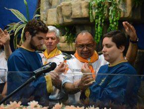 Durante essa semana, diversos batismos foram realizados no território