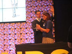Mayra Soares Borges, do Distrito Federal, foi batizada no encerramento do evento.