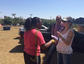 Equipe de reportagem do jornal Correio de Uberlândia compareceu ao evento