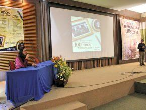 Professores e palestrantes explanam sobre a importância dos relatos de Ellen White e como o Unasp-EC ajuda a preservar esta história. Créditos: Curso de História
