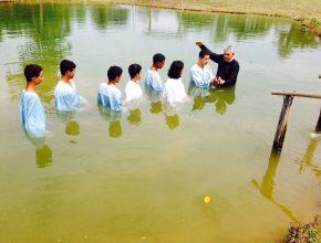 O batismo de Mateus aconteceu em uma fazenda localizada no município de Pontalina, GO.