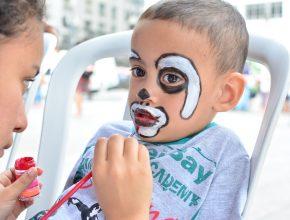 Cerca de 150 crianças passarem pelo circuito de saúde kids.