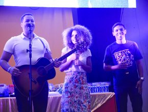 O Trio Discípulos esteve no Celebra Teen
