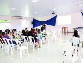 Palestra no Colégio Adventista de Marabá.