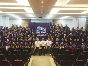 Jovens missionários de todo o Brasil. Juntos, eles dedicarão um ano de suas vidas ao trabalho missionário em diferentes regiões do país.